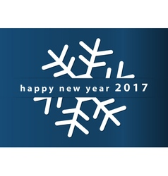 New year wishes - snowflake and text 5x7 inches vector