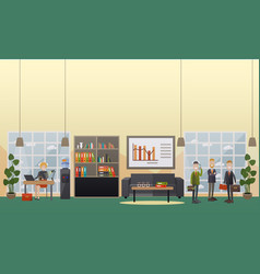 office life concept flat vector image