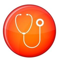 Phonendoscope icon flat style vector image