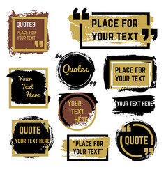 Quotes speech bubbles with frames and distressed vector