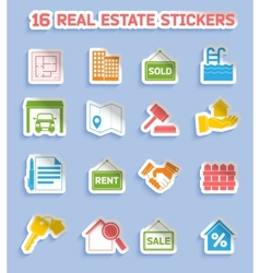 Real estate stickers vector