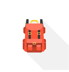red camping backpack icon vector image