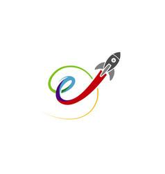 Rocket up logo vector