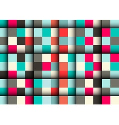 Seamless Square Pattern - Abstract Retro Squares vector image vector image