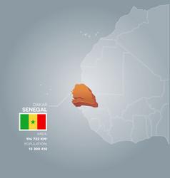 Senegal information map vector