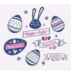 set easter logos and labels cute vector image