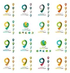 Set of map tag logo icons vector image