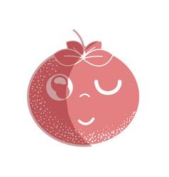 Silhouette kawaii nice funny tomato vegetable vector