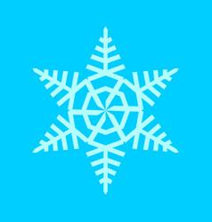 snowflake tree shape symbol vector image vector image