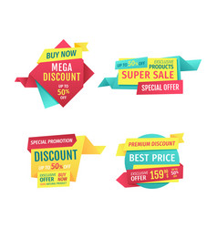 special offer banners set design icons vector image