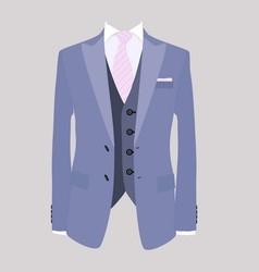 suit pink necktie vector image