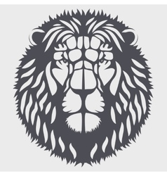 Symbol head of the lion vector