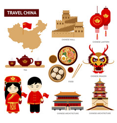 travel to china vector image