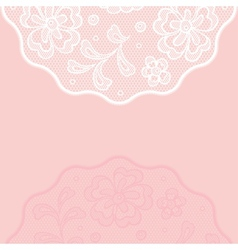 Vintage lace background ornamental flowers vector image