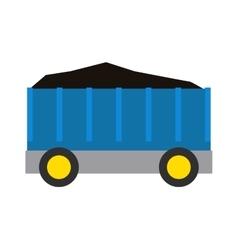 Wagon of coal train vector