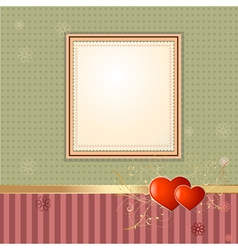 Wallpaper retro frame vector