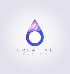 Water drop colorful design clipart symbol logo vector