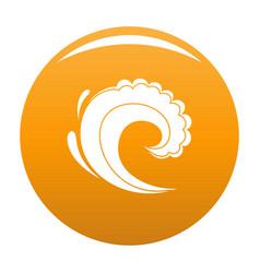 wave water surfing icon orange vector image