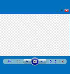 web image viewer template vector image