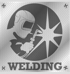 welder metal steel sheet design vector image