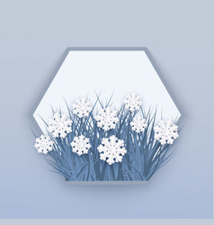 Winter banner with white vector