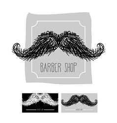 Barber Shop logo Emblem with a mustache se vector image vector image