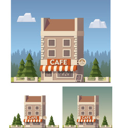 cafe building vector image vector image