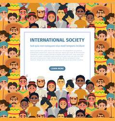 international community with different vector image vector image