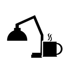 lamp and mug icon vector image vector image
