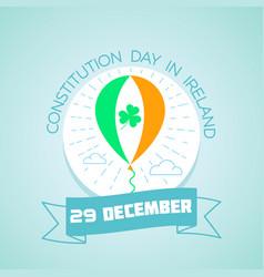 29 december constitution day in ireland vector image