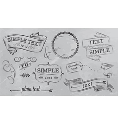Design elements in grey color vector image vector image