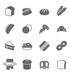 Icon set - bread and bakery vector image vector image