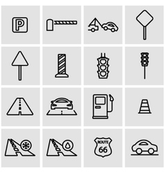 line road icon set vector image