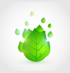 spring fresh bright green leaves vector image