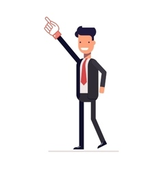 Successful businessman or manager shows up index vector image vector image