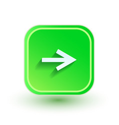 arrow icon flat design right direction vector image vector image
