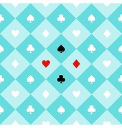 Card Suits Aqua Green Chess Board Diamond vector image vector image
