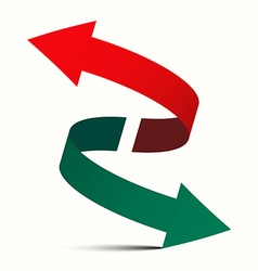 Double Arrow - Diagonal Left Right and Up Down vector image vector image