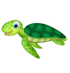 happy baby sea turtle vector image