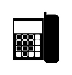 Silhouette telephone communication call office vector