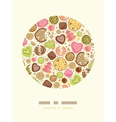 Colorful cookies circle decor pattern background vector