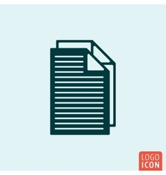 File document icon vector image vector image