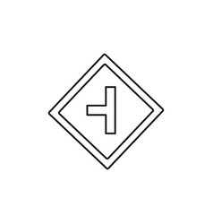 left turn road sign icon vector image