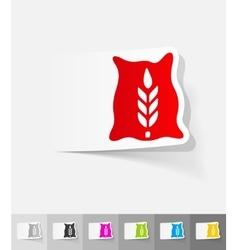 realistic design element bag of grain vector image