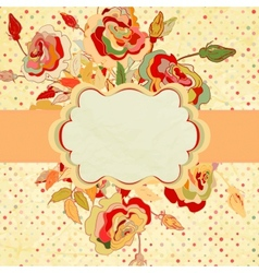 Vintage frame for your design EPS 8 vector image vector image