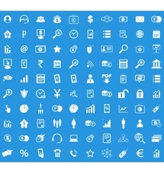 100 B2B icon set vector
