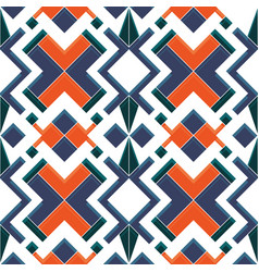 Abstract art deco geometric tiles pattern color vector