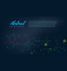 abstract background with line and fill circles vector image