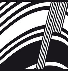 Abstract black and white composition vector