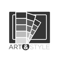art and style in flat design vector image